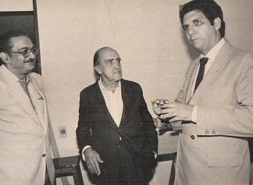 Com Oscar Niemeyer, um dos mais importantes arquitetos do mundo