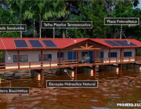 Projeto de palafitas de material reciclável é aposta do senador Jader para moradia de ribeirinhos