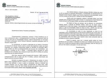 Apelei ao presidente Bolsonaro para liberar as verbas da educação.