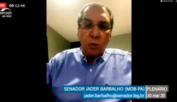 Senador Jader vota favorável à linha de crédito para as micro e pequenas empresas